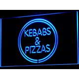 Enseigne Lumineuse i588-b Kebabs & Pizzas Shop Pizza Cafe Neon Light Sign