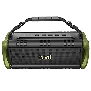 boAt Stone 1401 Portable Wireless Speaker with 30W Immersive Sound, Twin Equalizer Modes, Up to 7H Playtime, IPX5 Water and Splash Resistance, Multiple Connectivity Modes and TWS Feature (Army Green)