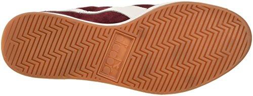 Diadora B.original, Pompes à plateforme plate mixte adulte Rosso (Rosso Tibetano/Bianco)