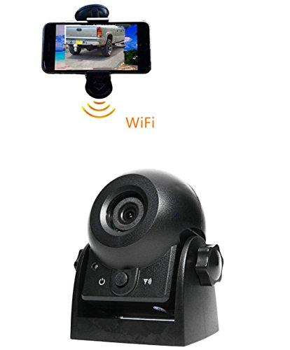 WLAN-Rückfahrkamera batterie backup kamera für iPhone Android wireless für wohnmobil - karawane, die wagen abschleppen, wohnwagen, night vision magnetischer basis,Rückfahr- und Überwachungskamera, (Auto-backup-kamera Wlan)