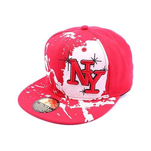 Hip Hop Honour Snapback NY Rouge et Blanche façon Tag - Mixte