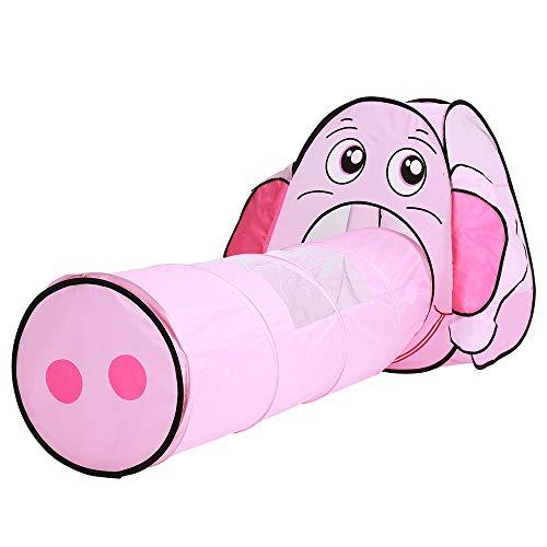 Giochi per bambini pieghevoli tenda da gioco tunnel a forma di elefante casetta per ragazze e ragazzi uso interno ed esterno come regalo di compleanno giocattolo di natale (rosa) gioca a giochi all'ap