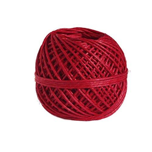 PANDURO Ficelle de chanvre - Ø1 mm /25 m - Rouge