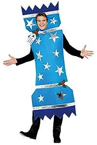 """Smiffys-28023M Disfraz de Christmas Cracker, con Tabardo, Color Azul, M-Tamaño 38""""-40"""" (Smiffy"""
