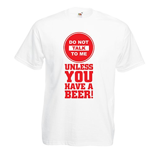 hirt Bier-Liebhaber-Zitate! Álcohol Lustige Geschenk-Ideen, Kleidung für Party, Trink-Shirts, Kneipe, Bar Sagen (Small Weiß Mehrfarben) (Bar-halloween-party-ideen)