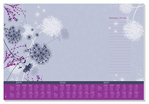 Sigel HO400 Papier-Schreibunterlage mit 3-Jahres-Kalender 2019 - 2021, ca. DIN A2, 30 Blatt - weitere Designs