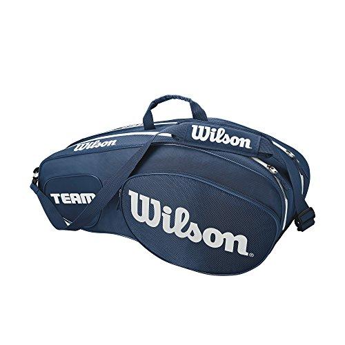 Wilson Damen/Herren Tennis-Tasche, für Profispieler, Team III 6 PK, Einheitsgröße, Blau/weiß, WRZ850806