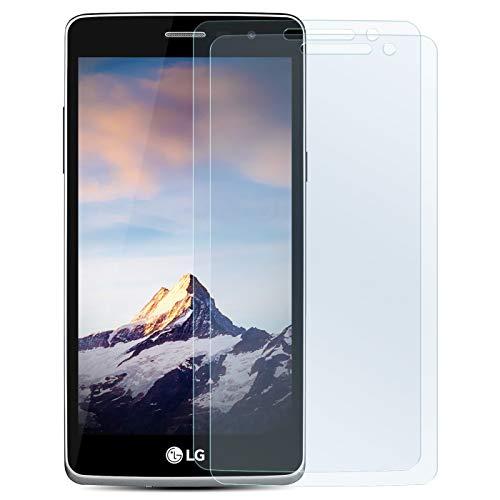 Zhinkarts 2X Bildschirmschutz Panzer Folie für LG Bello 2 Bildschirmfolie Panzerglas Echt Glas Schutzglas 9H