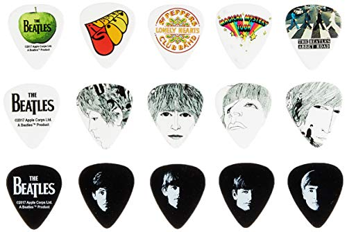 Legacy Collection Wave (Planet Waves 1CAB4-15BT1 Beatles Signature Celluloid Pick Box Motiv Logo mit 15 Picks in Medium)