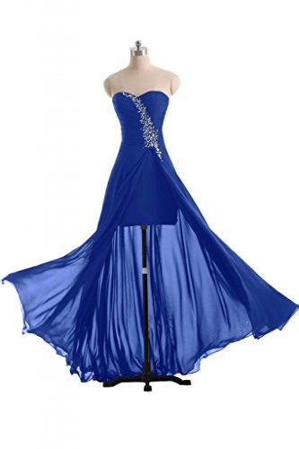 Sunvary 2014-Guaina Sweetheart Chiffon vestito da sera, abiti eleganti Pageant Royal Blue