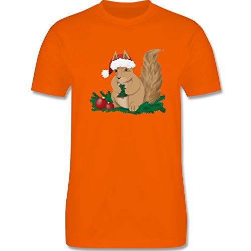 Weihnachten & Silvester - Weihnachten Eichhörnchen - Herren Premium T-Shirt Orange