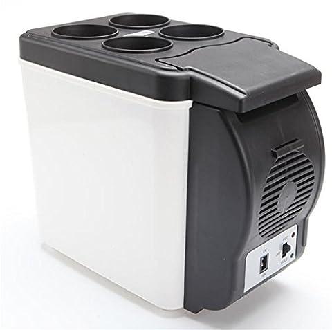MNII 6L Car réfrigérateur Froid et chaud Mini mini frigo Portable Boitier froid 12V / 220V 32 * 18 * 27cm Puissance 37W-Aller en voyage