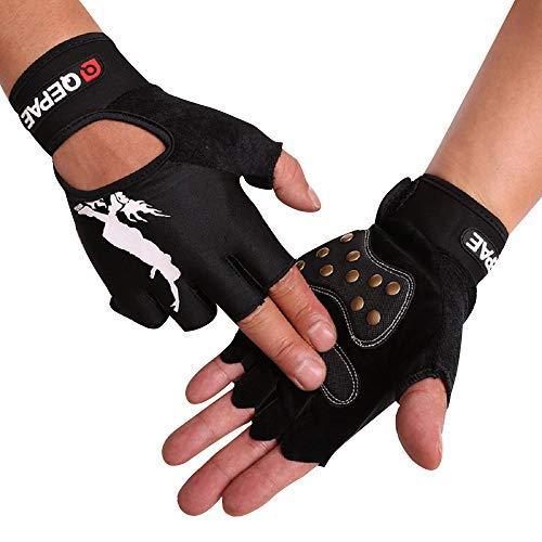 Tofern Unisex Handschuhe halbfinger Lycra fluoreszierend Muster für Skateboard Skate, Mit Handgelenk XL (Handflächebreite 9-10cm)