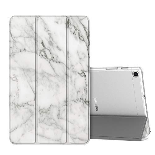 Fintie Hülle für Samsung Galaxy Tab A 10,1 SM-T510/T515 2019 - Ultradünn Schutzhülle mit transparenter Rückseite Abdeckung Cover für Samsung Galaxy Tab A 10.1 Zoll 2019 Tablet, Marmor Weiß