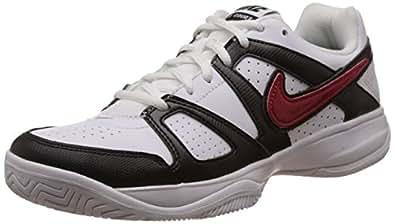 Nike Men's City Court VII White,Gym Red,Black  Tennis Shoes -5.5 UK/India (38.5 EU)(6 US)