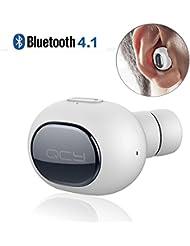 Auricular Bluetooth 4.1 Mini Casco Inalambrico con Micrófono Manos libres más larga duración de la batería para iPhone,iPad, Huawei y otros Android smartphone etc.
