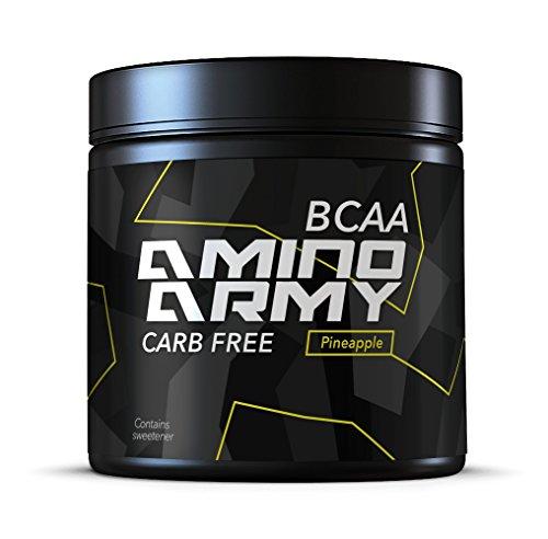 ★ BCAA Pulver 4:1:1 6000mg + 1000mg Glutamin pro Portion - 25 servings ( Ananas ) Enthält 10 000mg Aminosäuren pro Portion