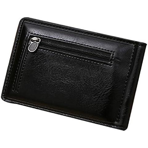 Malloom Lussuoso Uomo Frizione Carta Portafoglio Tasche Borsa Bifold Fermasoldi Portamonete