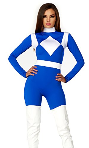 ue Ranger Fancy dress costume X-Small/Small (Womens Power Ranger Kostüm)