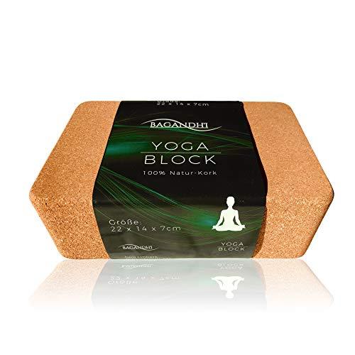 BAGANDHI GANZ OHNE Plastik! FAIRER Preis FÜR EIN FAIRES Produkt! Der Yoga Block aus Kork zu 100% Bio