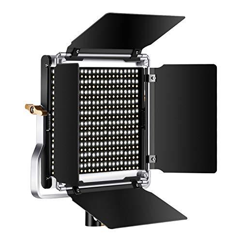 Neewer Dimmbare zweifarbige 500 LED Videoleuchte mit Scheunentor U Halterung und Tragetasche für Videofotografie robuster Metallrahmen 3200-5600K CRI 96+ Verbessertes Kühldesign
