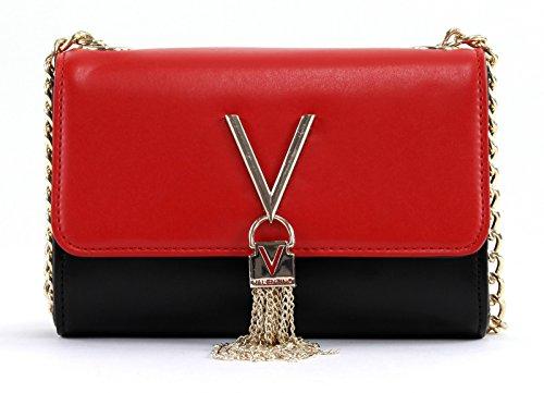 Mario Valentino Damen Divina Bi Clutch, 4.0x11.5x17.0 cm Mehrfarbig (Nero/Rosso)