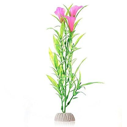 Suberde Artificial Water Grass Morning Glory Fish Tank Aquarium Plastic Ornament Plant 3