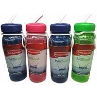 Rubbermaid Recambio Reuso Premium Botellas, libre de BPA, 20 oz (Paquete de 4