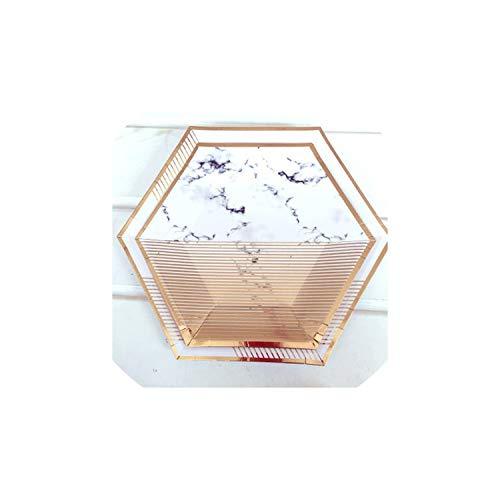 Einweg-Teller Goldfolie Marmor Einweg-Papiergeschirr setzt Weihnachten Party des neuen Jahres Pappteller Tassen Plastikhalme Baby-Dusche Tisch-Set, 22cm Platten 8pcs1 (Baby-dusche-papier-tischsets)