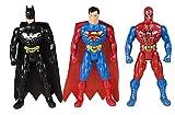 #1: Generic Spiderman Superman Batman Super Hero Figures (Multicolour)- Pack of 3