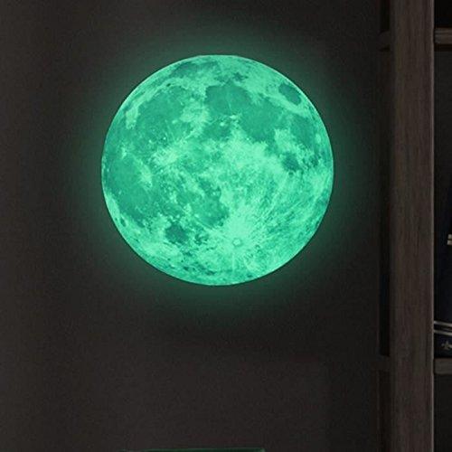 Lookout pared pegatinas brilla en la oscuridad luna extraíble adhesivo Mural Art adhesivos vinilo decoración del hogar