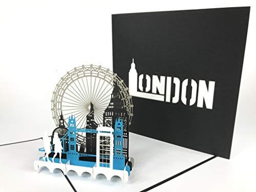 London City Pop Up Grußkarte Anniversary Baby Happy Geburtstag Ostern Mutter Thank You Valentine 's Day Hochzeit Kirigami Papier Craft Postkarten -