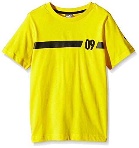 PUMA Kinder T Shirt BVB 09 Tee Cyber Yellow, 164