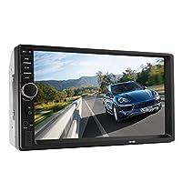 شاشة سيارة تعمل باللمس بتقنية بلوتوث في 2.0 7 بوصة عبارة عن مشغل ستيريو وفيديو تشغيل حر اليدين للمكالمات ومشغل ام بي 5 تي اف - اس دي - ام ام سي - يو اس بي - راديو اف ام بدون دي في دي