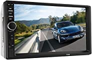 Bluetooth V2.0 7 Inch 2 DIN Car Video Stereo Player Hands-free Call Touch Screen Car MP5 Player TF SD MMC USB