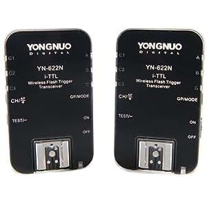 Yongnuo YN-622N 622N - Scatto remoto wireless i-TTL, 1/8000s, per Nikon D70 D80 D90 D200 D300 D600 D700 D800 D3000 D3100 D5000 D7100+WINGONEER® diffusore