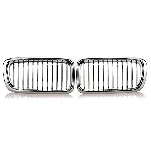 GOZAR Chrome Car Rein Grils Grils pour BMW E38 740 750 98 99 2000 2001