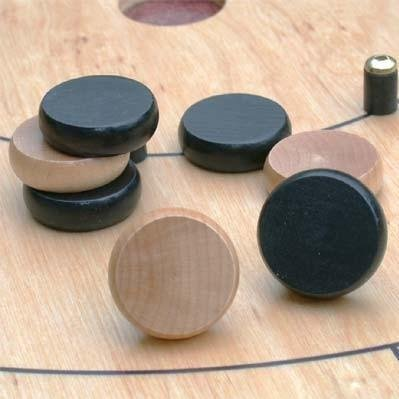 14 Crokinole Discs, Green by Mayday Games (English Manual)
