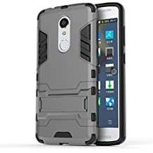 Bllosem ZTE Axon 7 mini Case Hybrid Dual Layer PC+TPU Full Body Shock Resistant Armour with Kickstand Function Case for ZTE Axon 7 mini Gray