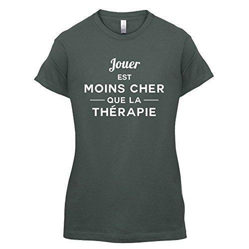Jouer est moins cher que la thérapie - Femme T-Shirt - 14 couleur Gris Foncé