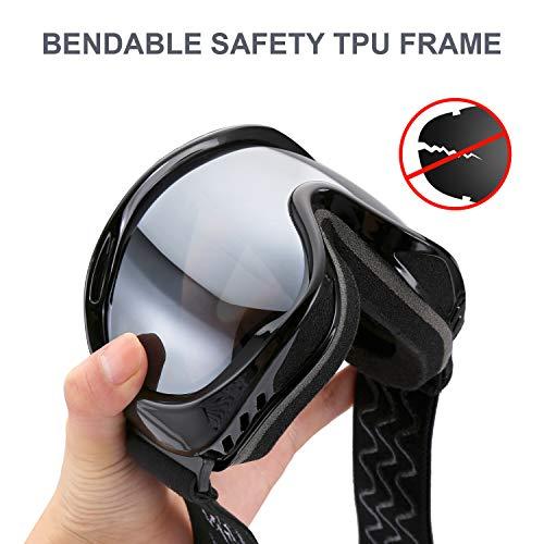 enkeeo occhiali da sci  ENKEEO Maschera da Sci Occhiali da Snowboard Full Frame Anti ...