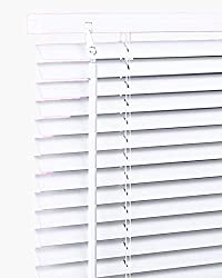 Pvc Wood Venetian Window Blind / Blinds Home Office Easy Fit All Sizes (105x150, White) ...