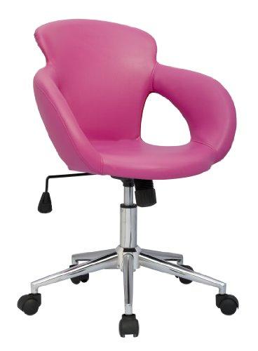 SixBros. Sgabello girevole da lavoro sedia da ufficio, fuchsia - M-65335-1/1305