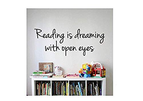 Lesezitat-Zeichen-Vinylabziehbild-Aufkleber-Lesung Lesung ist mit offenen Augen wandbeschriftend, die dr Seuss-Kinder gelesene Lesung Bücher lesen ()