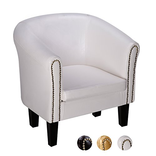 CCLIFE Chesterfield Sessel Loungesessel mit Hocker Clubsessel Cocktailsessel Kunstleder Farbe...