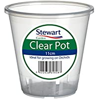 Pot à orchidée Transparent 13cm par Stewart Garden Products, Plastique, claire, 11 cm