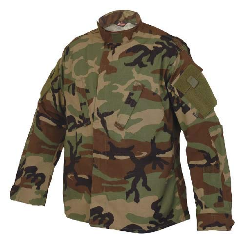 Tru-Spec 1274 Tactical Response Uniform (TRU) Shirt, Woodland Camo, Herren, Multicam, X-Large Camo Bdu Military Shirt Jacket