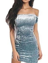 Vovotrade® Vestito da Donna con Spalle Scoperte Mini Abito Sexy 7e02921fe22