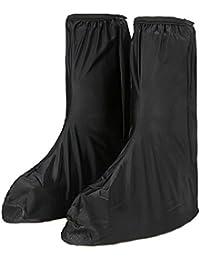 KT-SUPPLY Negro Lluvia Zapatos Cubierta Gear Motocicleta Prtective overboots Calzado Hombres (Tamaño: Euro 4445)