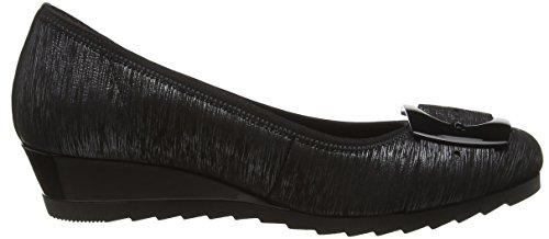 Gabor Shoes Comfort Sport, Scarpe con Tacco Donna Grigio (argento schwarz)